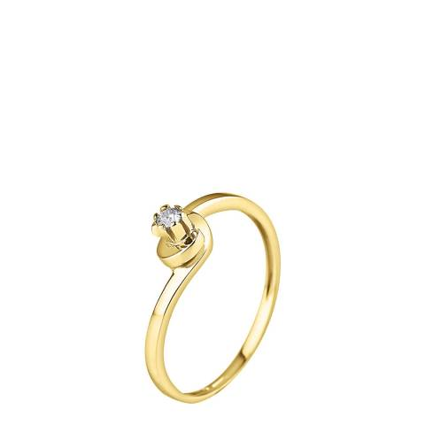 Diamond Design Gold Diamond Ring 0.04ct