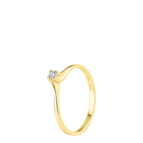 Diamant & Argent Gold Diamond Ring 0.06ct