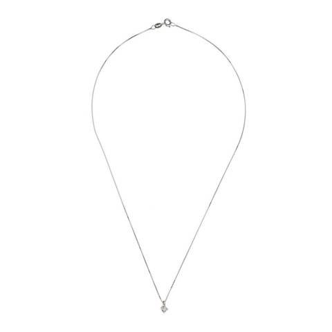 Diamond Design Silver Diamond Pendant Necklace 0.15ct