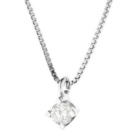 Pretty Solos Silver Diamond Pendant Necklace 0.15ct