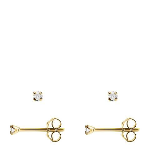 Pretty Solos Gold Diamond Stud Earrings 0.06cts