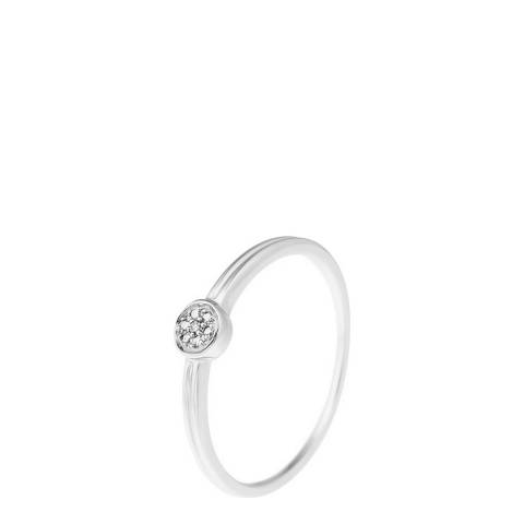 Forever Diamonds White Gold Circle Ring 0.04ct