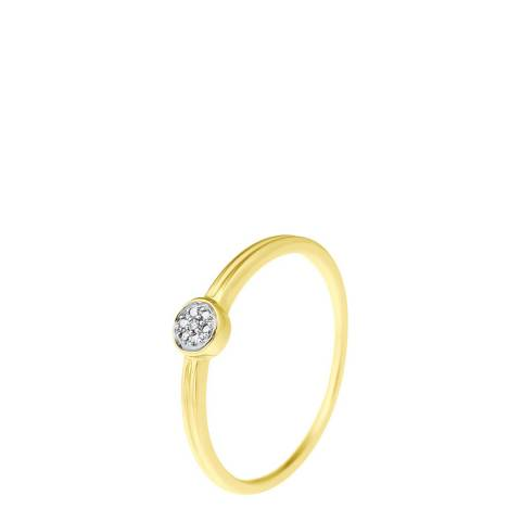 Diamond Design Gold Diamond Circle Ring 0.04ct