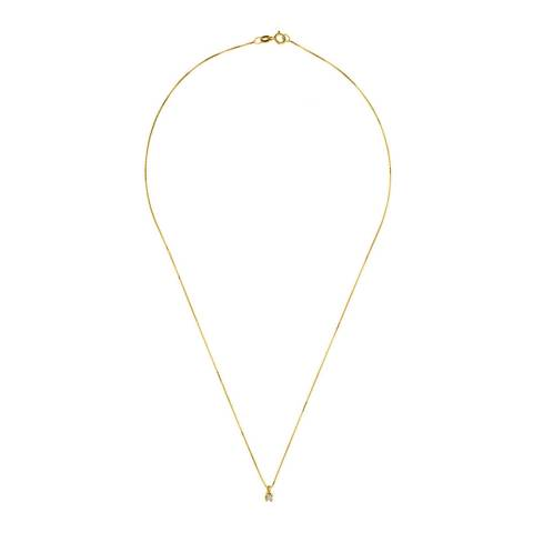 Pretty Solos Gold Pendant Necklace 0.03ct