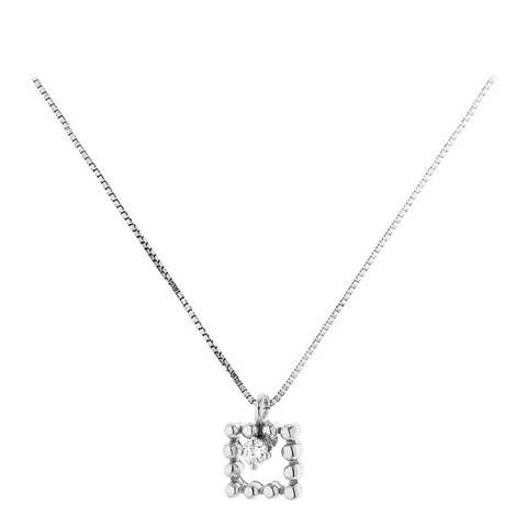 Diamant & Argent Silver Square Diamond Necklace 0.05ct