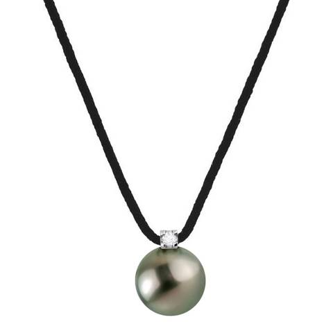 Only You Black Tahiti Pearl Necklace 0.03cts