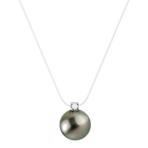 Pretty Solos Clear Tahiti Pearl Necklace 0.03cts