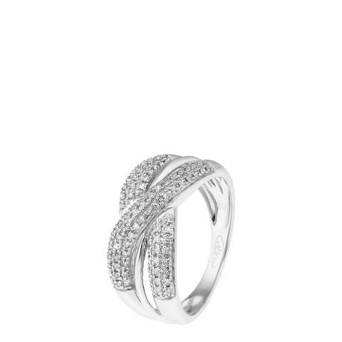 Diamant & Argent White Gold Diamond Knot Ring 0.30ct