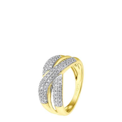 Diamant & Argent Gold Diamond Knot Ring 0.30ct