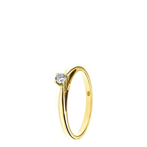 Diamant & Argent Gold Diamond Ring 0.10ct