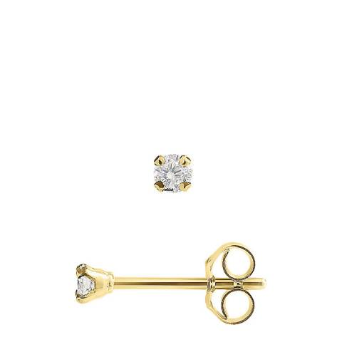 Only You Gold Diamond Earrings 0.10ct
