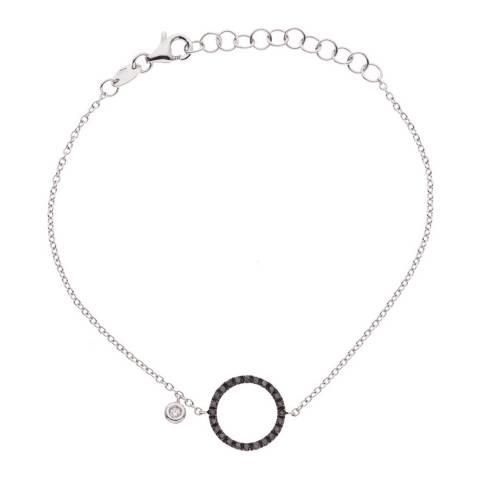 Diamant & Argent White Gold Open Circle Bracelet 0.20ct