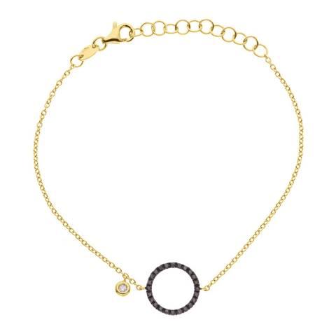 Dyamant Gold Open Circle Bracelet 0.20ct