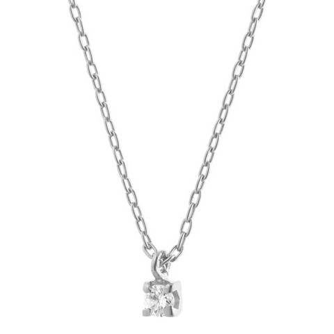 Dyamant White Gold Diamond Pendant Necklace 0.07ct