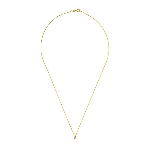 Only You Gold Diamond Pendant Necklace 0.07ct