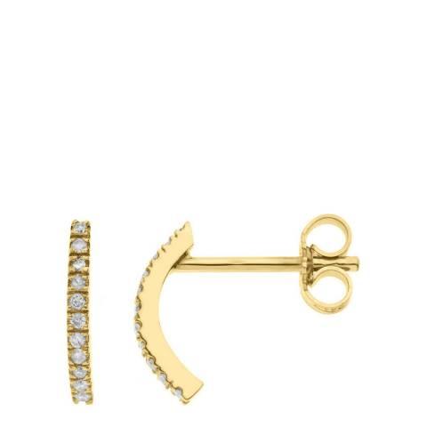 Diamant & Argent Gold Diamond Earrings 0.09ct