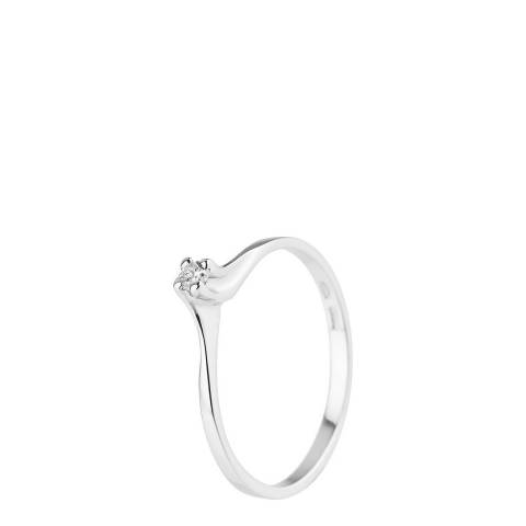 Pretty Solos White Gold Diamond Ring 0.06ct