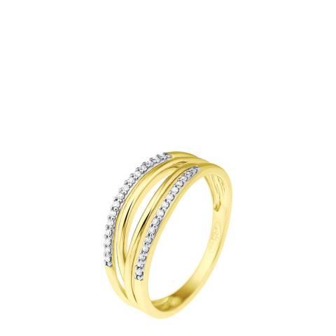 Diamant & Argent Gold Diamond Ring 0.08ct