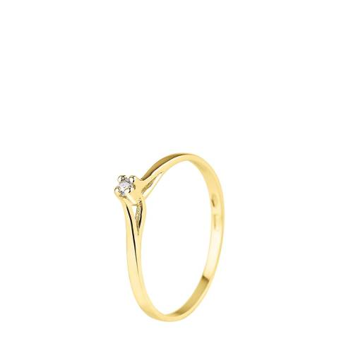 Diamant & Argent Gold Diamond Ring 0.04ct