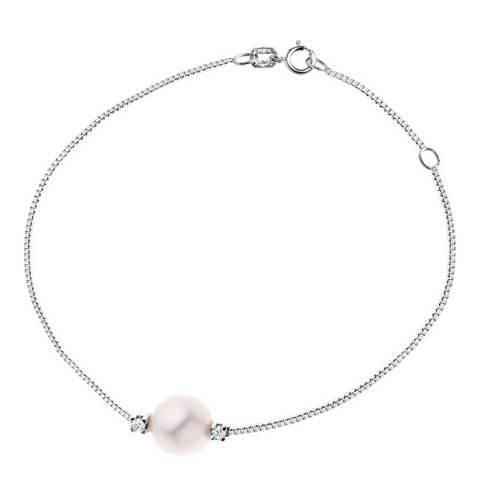 Dyamant Pink Freshwater Pearl Bracelet 8-9mm 0.03ct