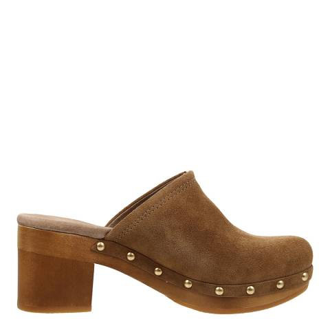 UGG Brown Nubuck Kay Mule Clogs