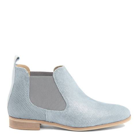 Eye Ice Blue Perforated Suede Chelsea Boots