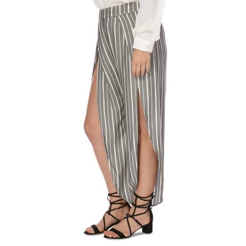 Free People Black Combo Rosemary Slit Trousers