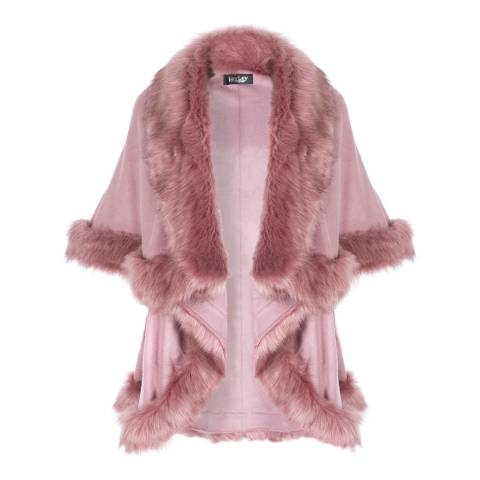 JayLey Collection Blush Faux Fur Cape