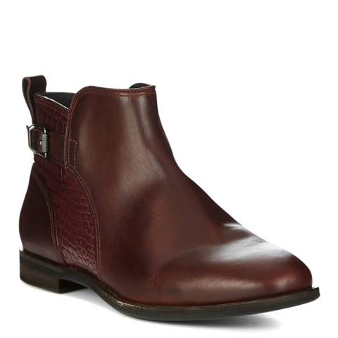 UGG Cordovan Leather Demi Croc Ankle Boots