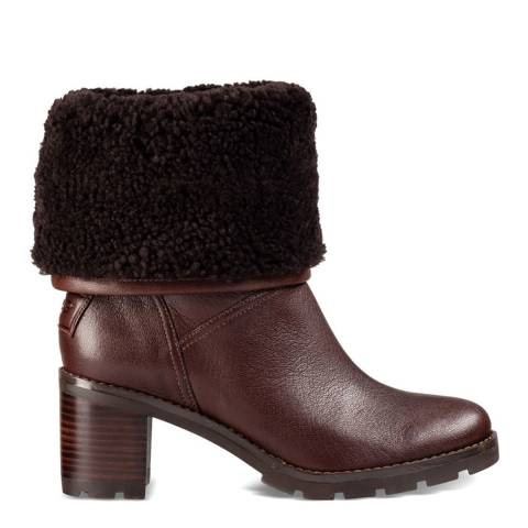 UGG Brown Leather Jessia Boots