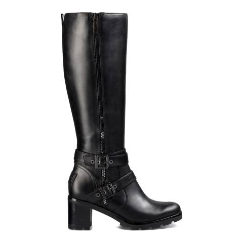 UGG Black Leather Lana Zip Boots