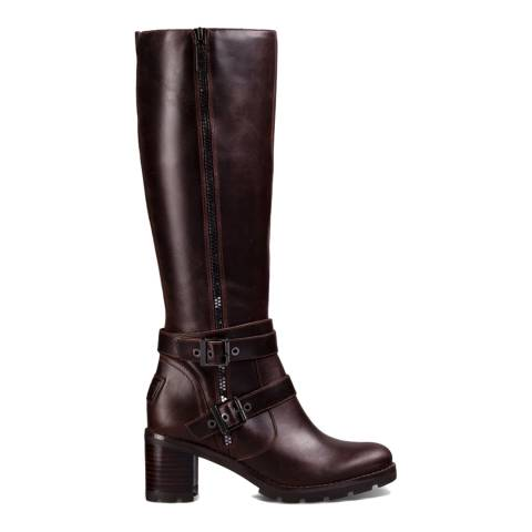 UGG Cordovan Leather Lana Zip Boots