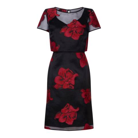 Fenn Wright Manson Red Kaleidoscope Floral Dress