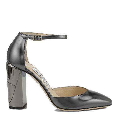 Jimmy Choo Anthracite Leather Mabel 95 Pumps