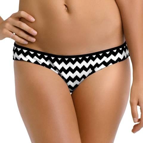 Seafolly Black/White Mod.com Hipster Bikini Briefs