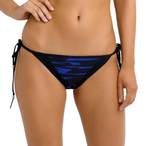 Seafolly Blue/Black Fastlane Tie Side Bikini Briefs