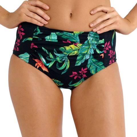 Seafolly Black/Green Jungle High Waisted Bikini Briefs
