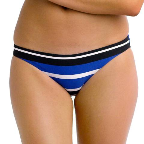 Seafolly Blue/Black & White Walk The Line Hipster Bikini Briefs