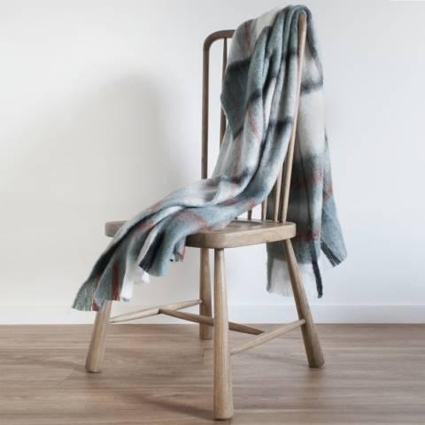 Kilburn & Scott Blue Kendal Mohair Feel Throw 130 X 170 cm
