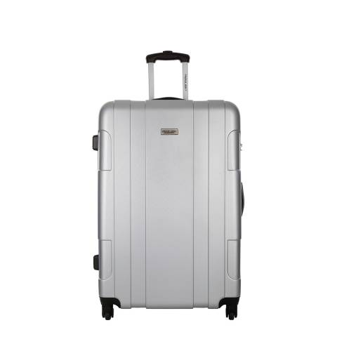 Travel One Silver Hardcase Spinner Cabin Suitcase 45cm