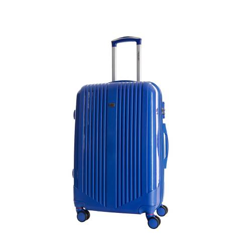 Travel One Blue Hardcase Spinner Cabin Suitcase 50cm