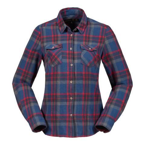 Musto Women's Blue Tailwind Long Sleeve Check Cotton Shirt