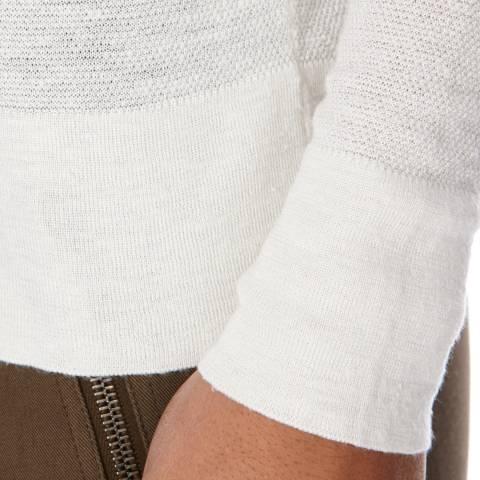 18b705cd067a39 White Silk Blend Maxie Jumper - BrandAlley
