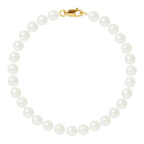 Just Pearl Natural White Round Pearl Bracelet