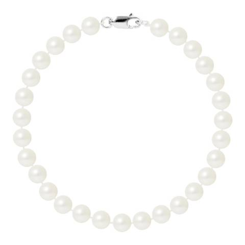 Just Pearl White Round Pearl Bracelet