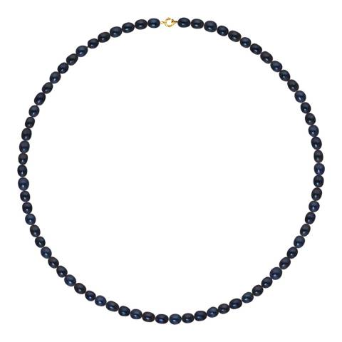Just Pearl Black Freshwater Pearl Necklace