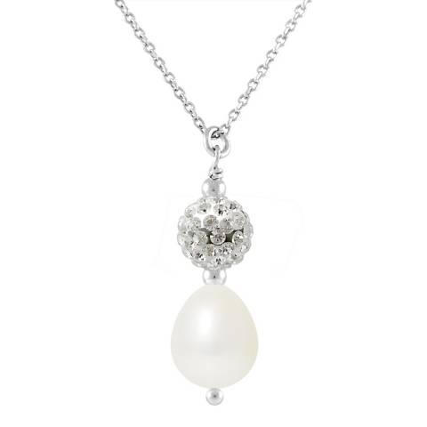 Mitzuko Natural White Pearl Pendant Necklace