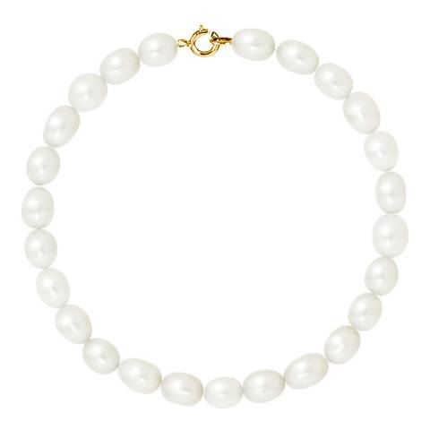 Just Pearl Natural White Freshwater Pearl Bracelet