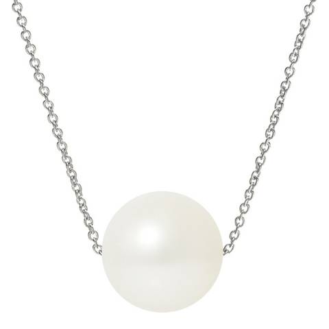 Just Pearl Natural White Pearl Necklace