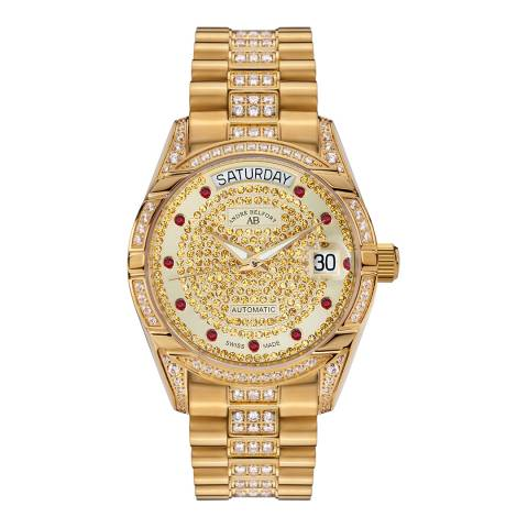 Andre Belfort Womens Stainless Steel Gold Watch